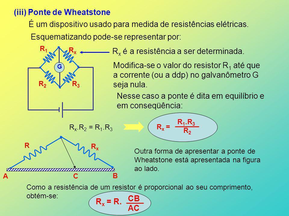 (iii) Ponte de Wheatstone