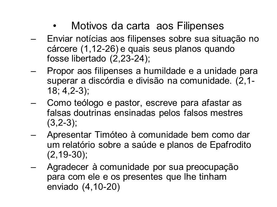 Motivos da carta aos Filipenses