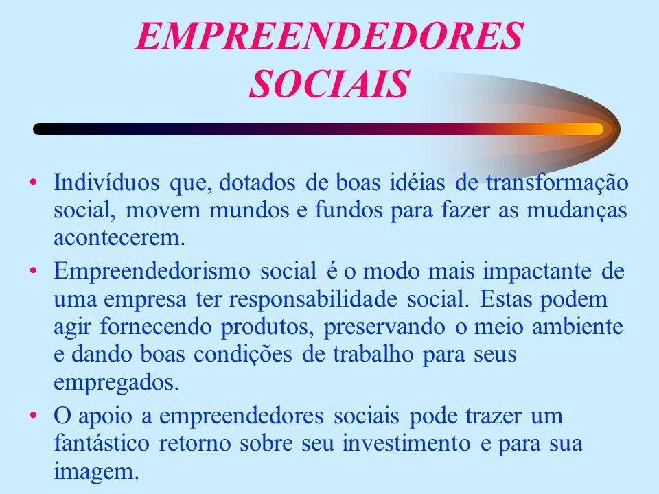 EMPREENDEDORES SOCIAIS