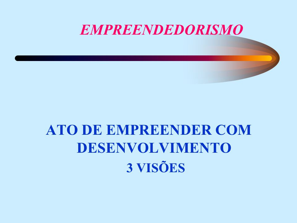 ATO DE EMPREENDER COM DESENVOLVIMENTO