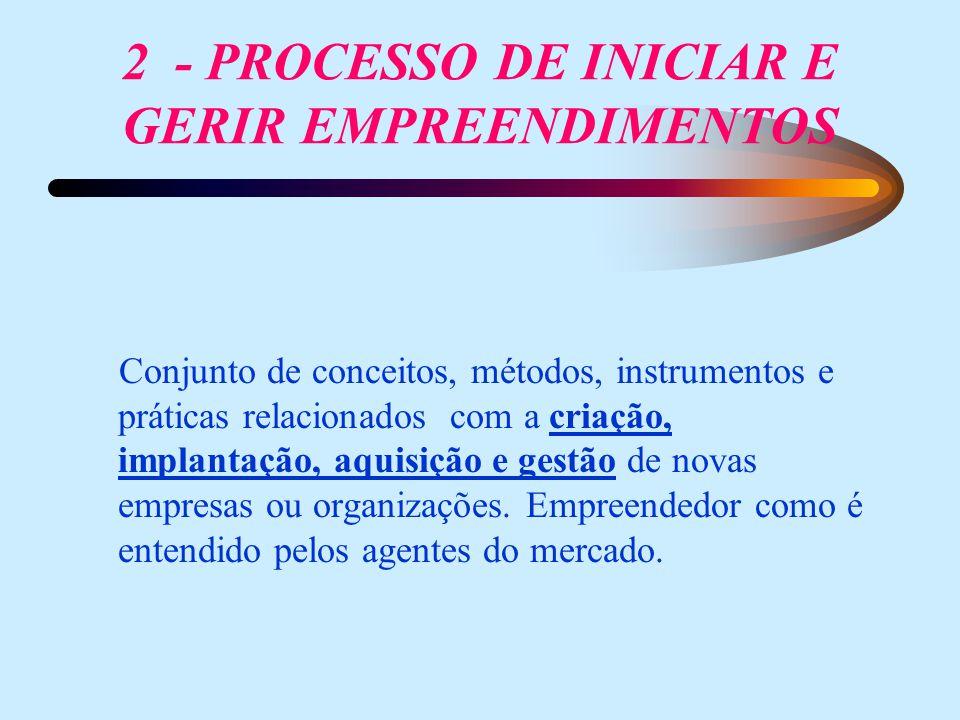 2 - PROCESSO DE INICIAR E GERIR EMPREENDIMENTOS
