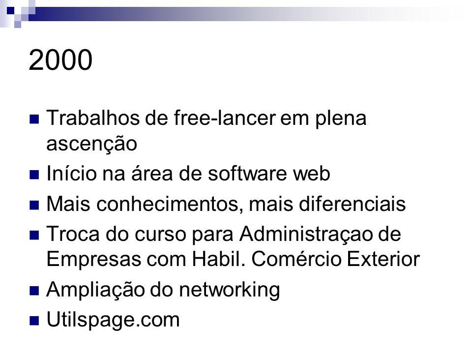 2000 Trabalhos de free-lancer em plena ascenção