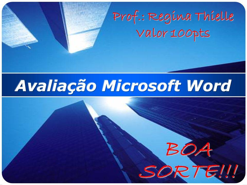 Avaliação Microsoft Word