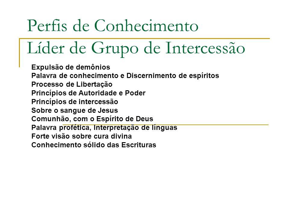 Perfis de Conhecimento Líder de Grupo de Intercessão