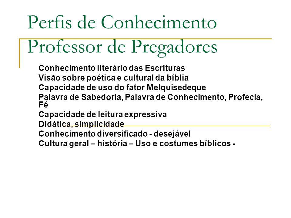 Perfis de Conhecimento Professor de Pregadores