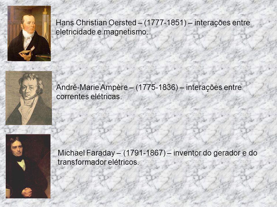 Hans Christian Oersted – (1777-1851) – interações entre