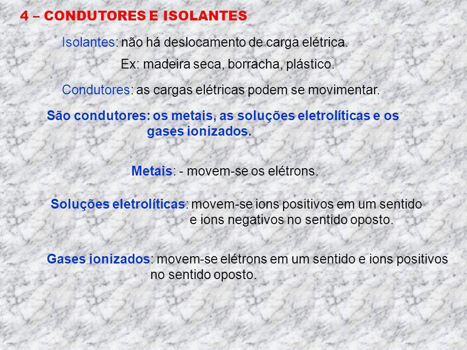 4 – CONDUTORES E ISOLANTES