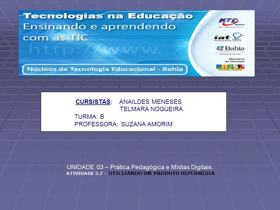 PROFESSORA: SUZANA AMORIM