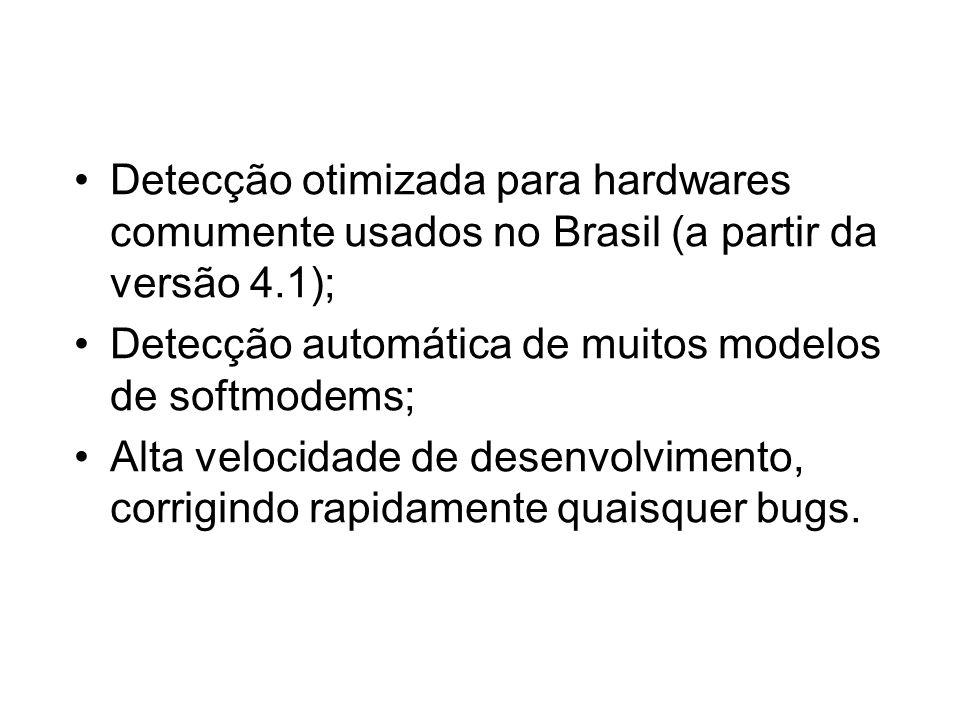 Detecção otimizada para hardwares comumente usados no Brasil (a partir da versão 4.1);