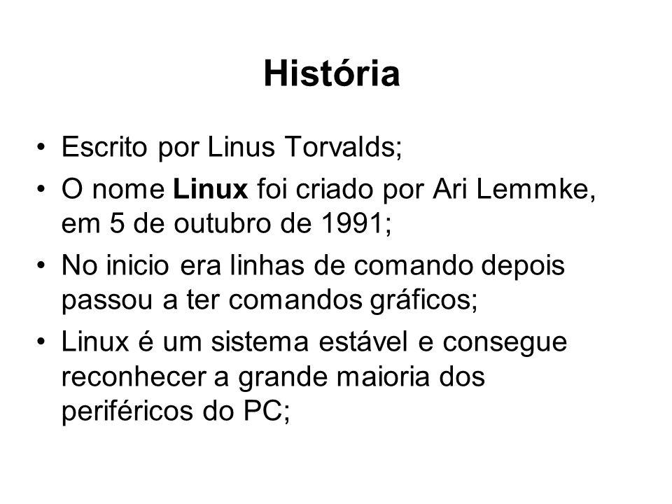 História Escrito por Linus Torvalds;