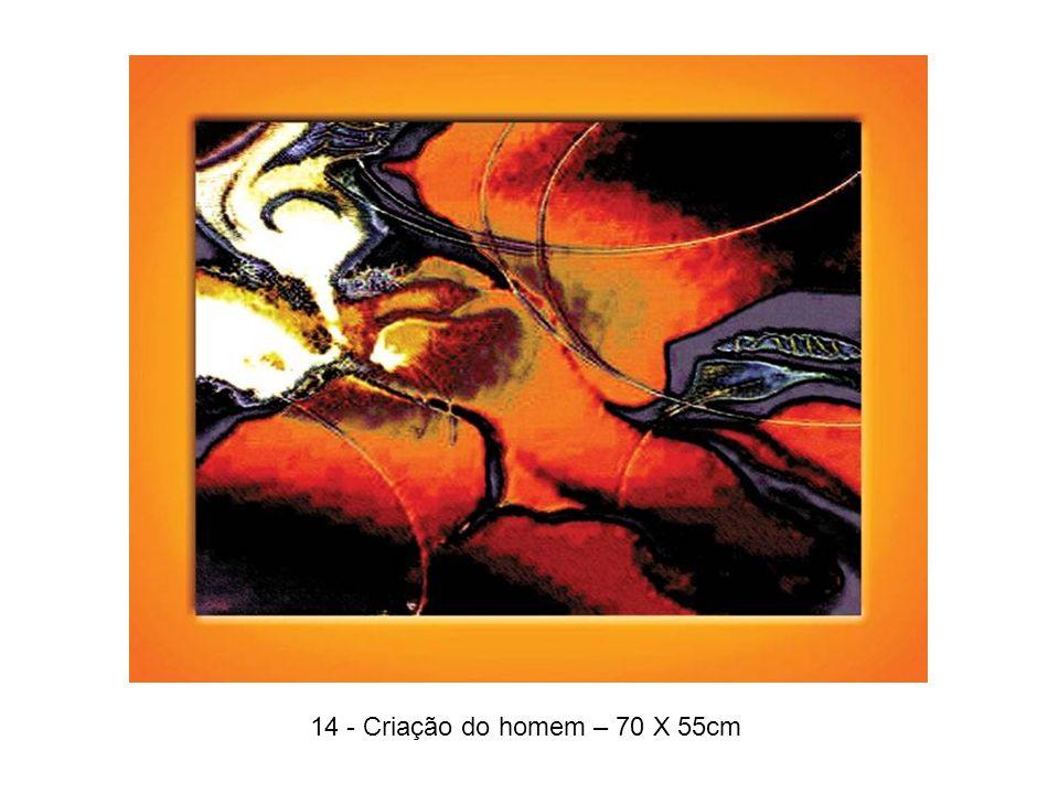 14 - Criação do homem – 70 X 55cm