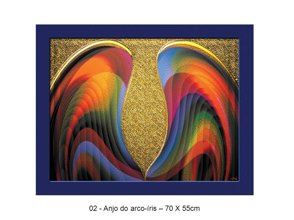 02 - Anjo do arco-íris – 70 X 55cm