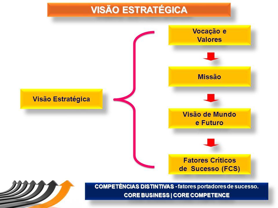 VISÃO ESTRATÉGICA Vocação e Valores Missão Visão Estratégica