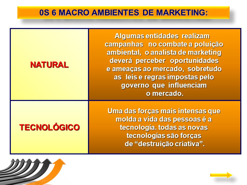 0S 6 MACRO AMBIENTES DE MARKETING: NATURAL TECNOLÓGICO
