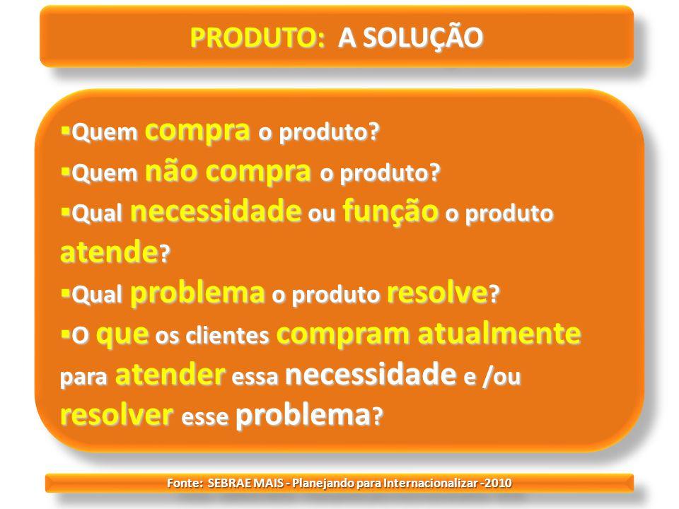 Fonte: SEBRAE MAIS - Planejando para Internacionalizar -2010