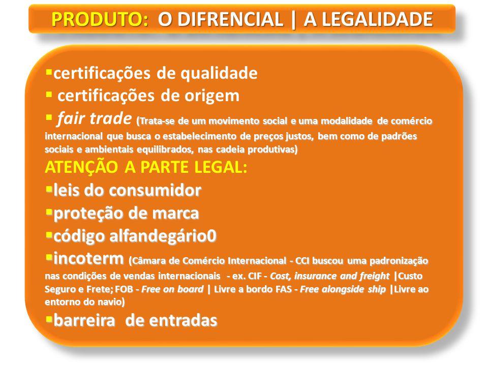 PRODUTO: O DIFRENCIAL | A LEGALIDADE