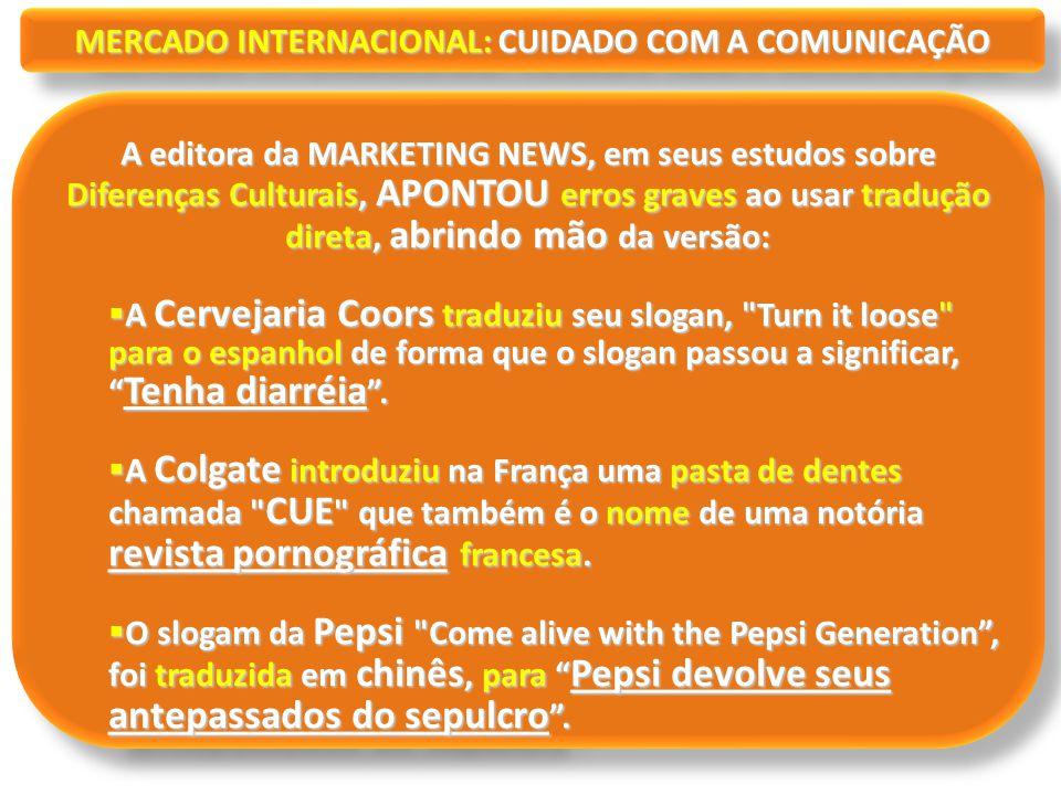 MERCADO INTERNACIONAL: CUIDADO COM A COMUNICAÇÃO
