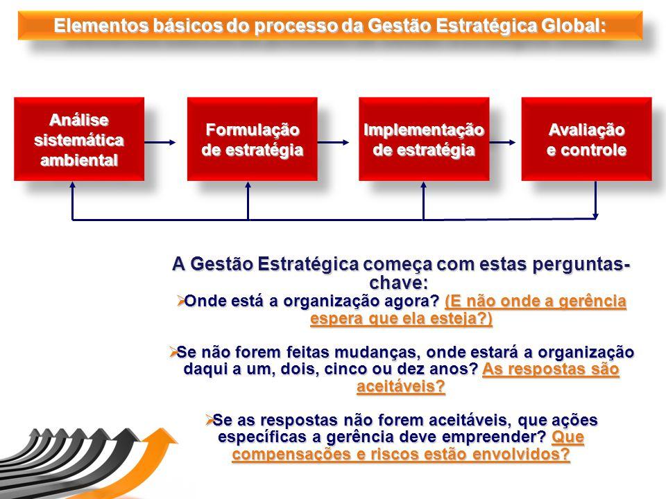 Elementos básicos do processo da Gestão Estratégica Global: