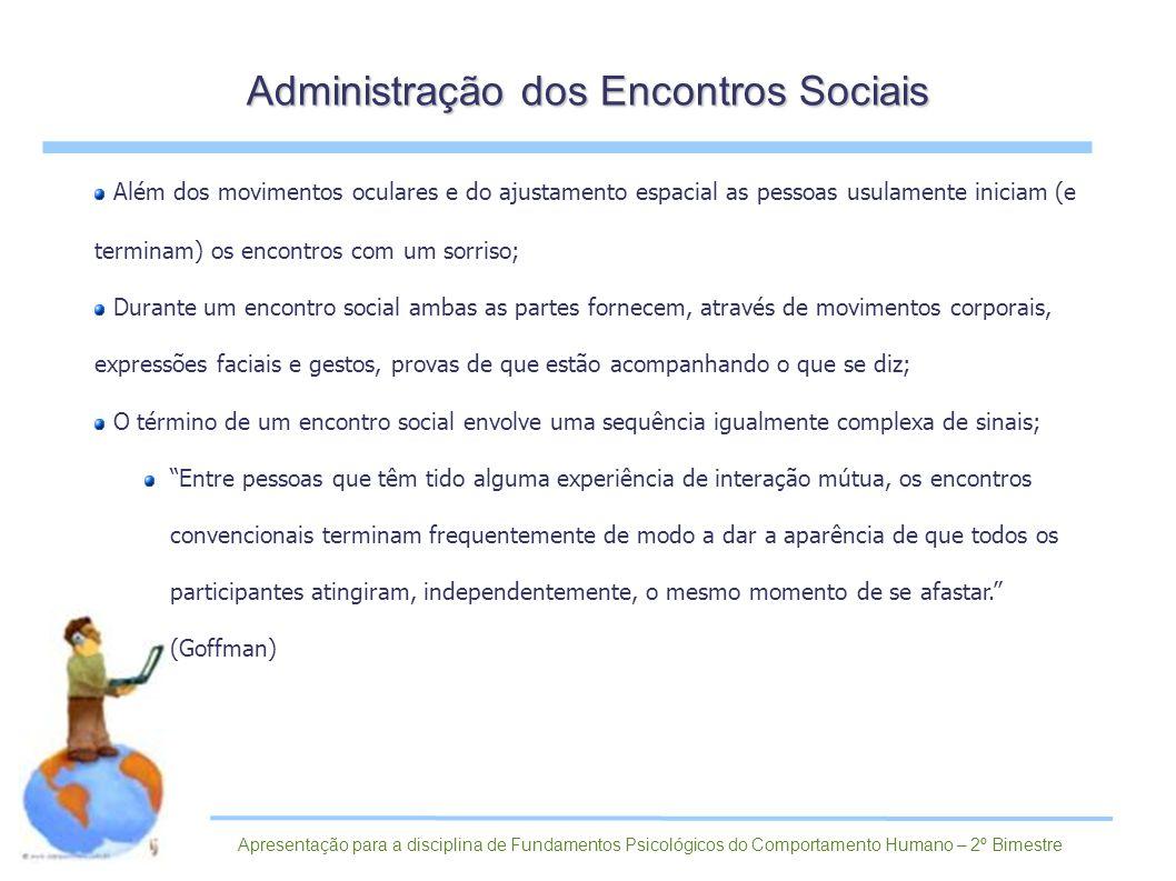 Administração dos Encontros Sociais