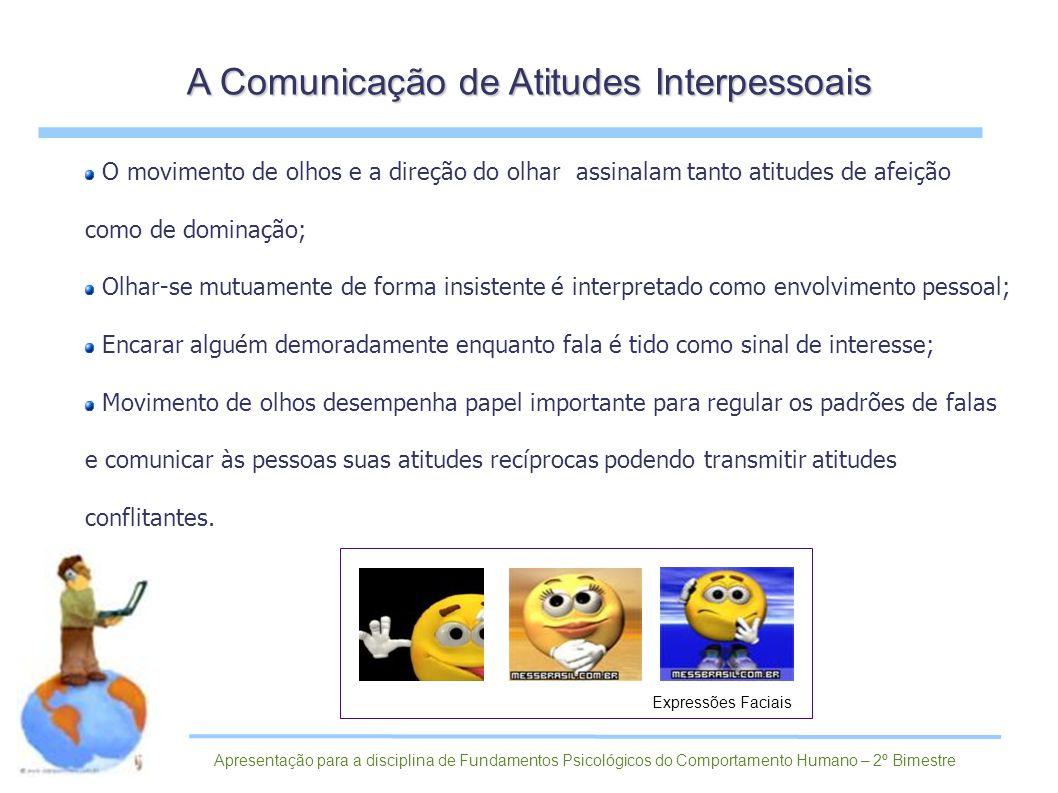 A Comunicação de Atitudes Interpessoais