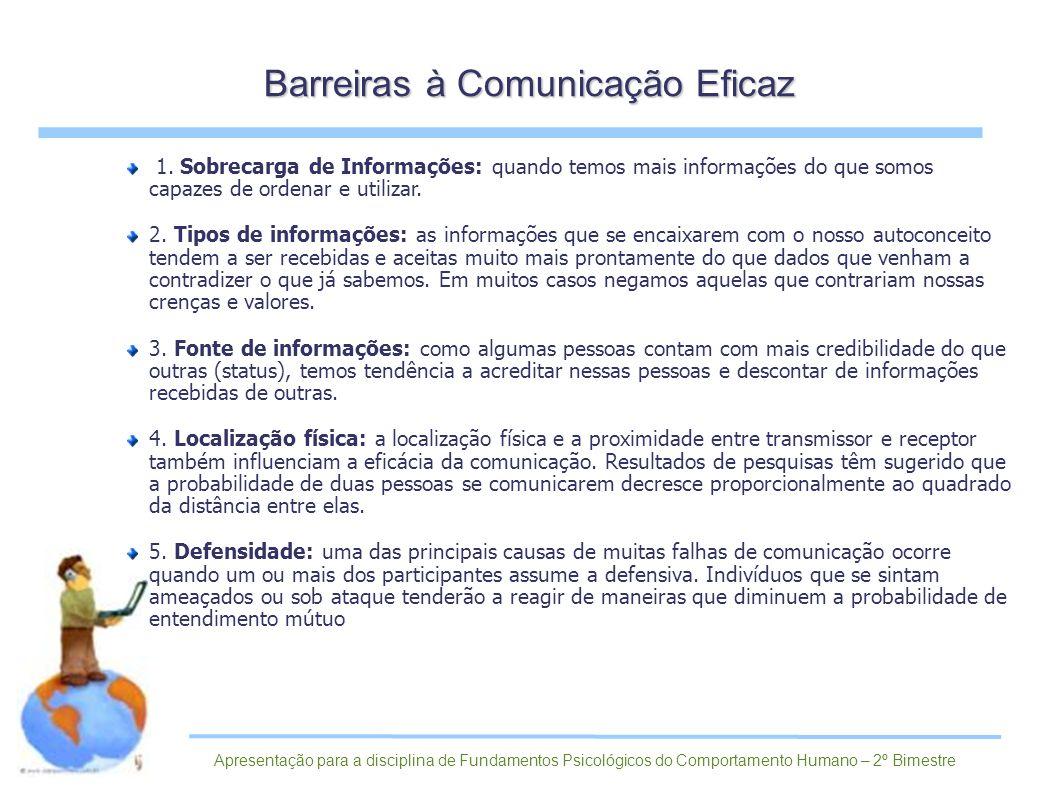 Barreiras à Comunicação Eficaz