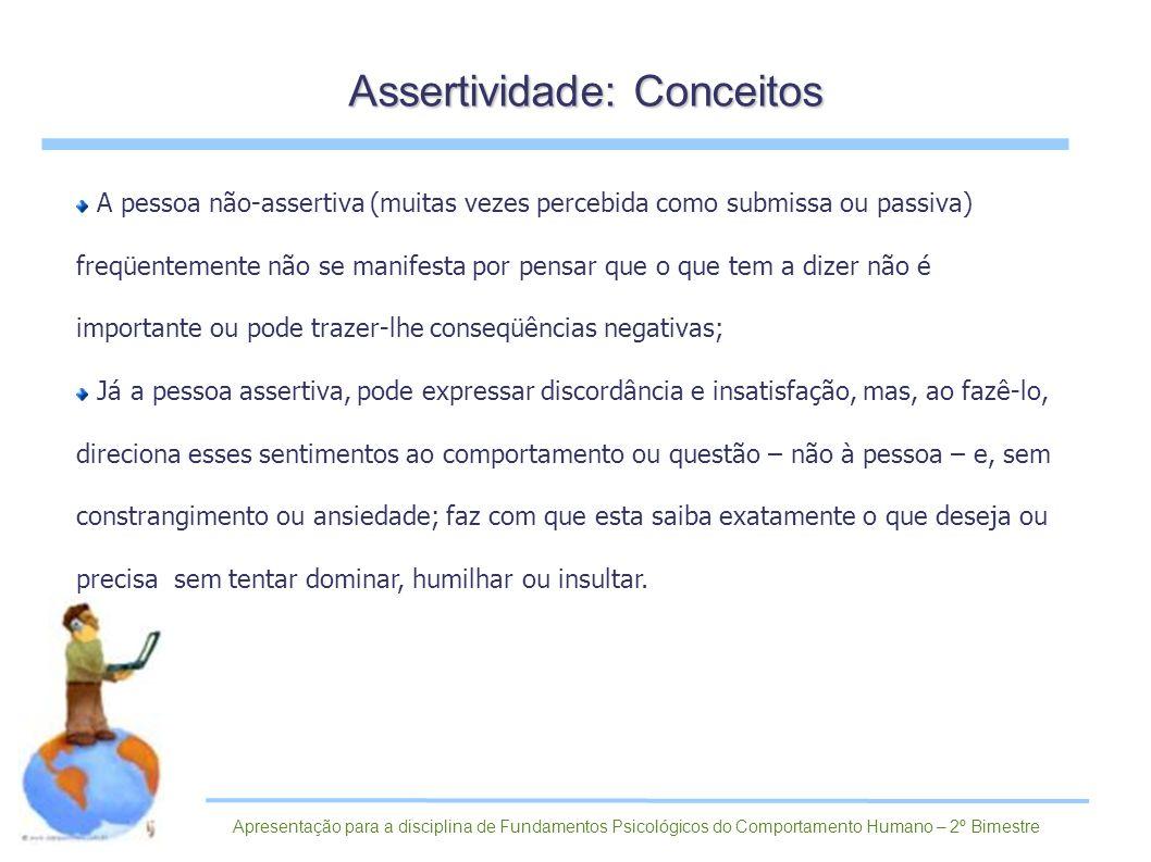 Assertividade: Conceitos
