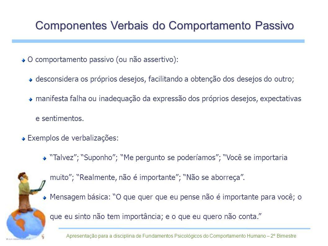 Componentes Verbais do Comportamento Passivo