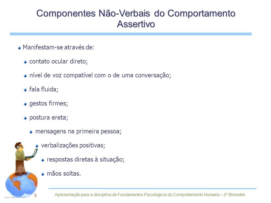 Componentes Não-Verbais do Comportamento Assertivo