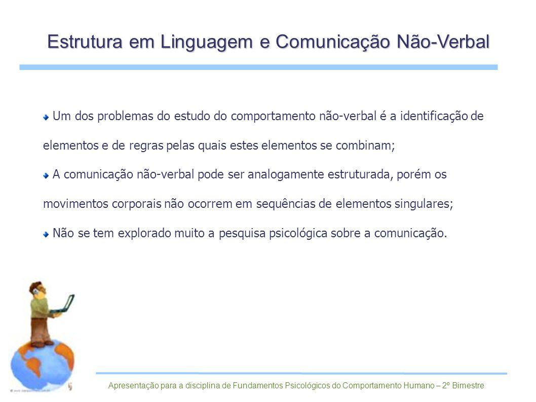 Estrutura em Linguagem e Comunicação Não-Verbal
