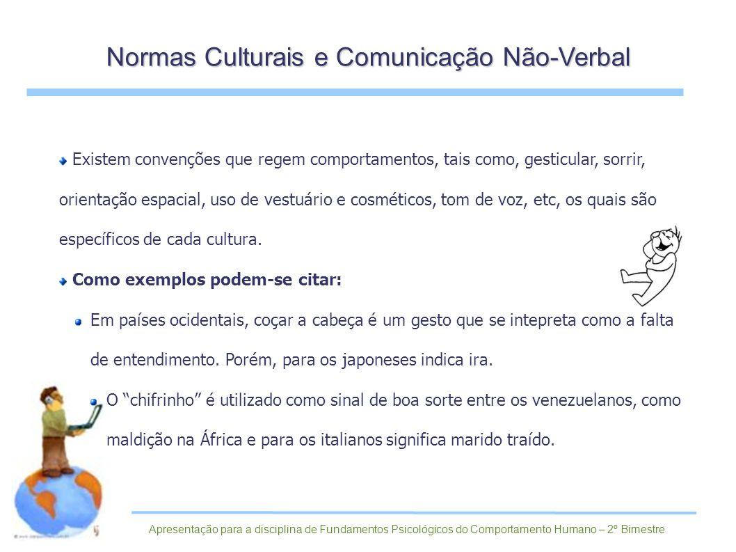 Normas Culturais e Comunicação Não-Verbal
