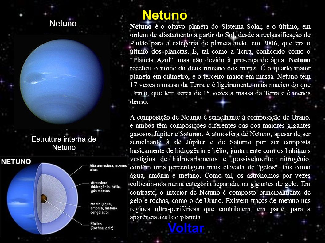 Estrutura interna de Netuno