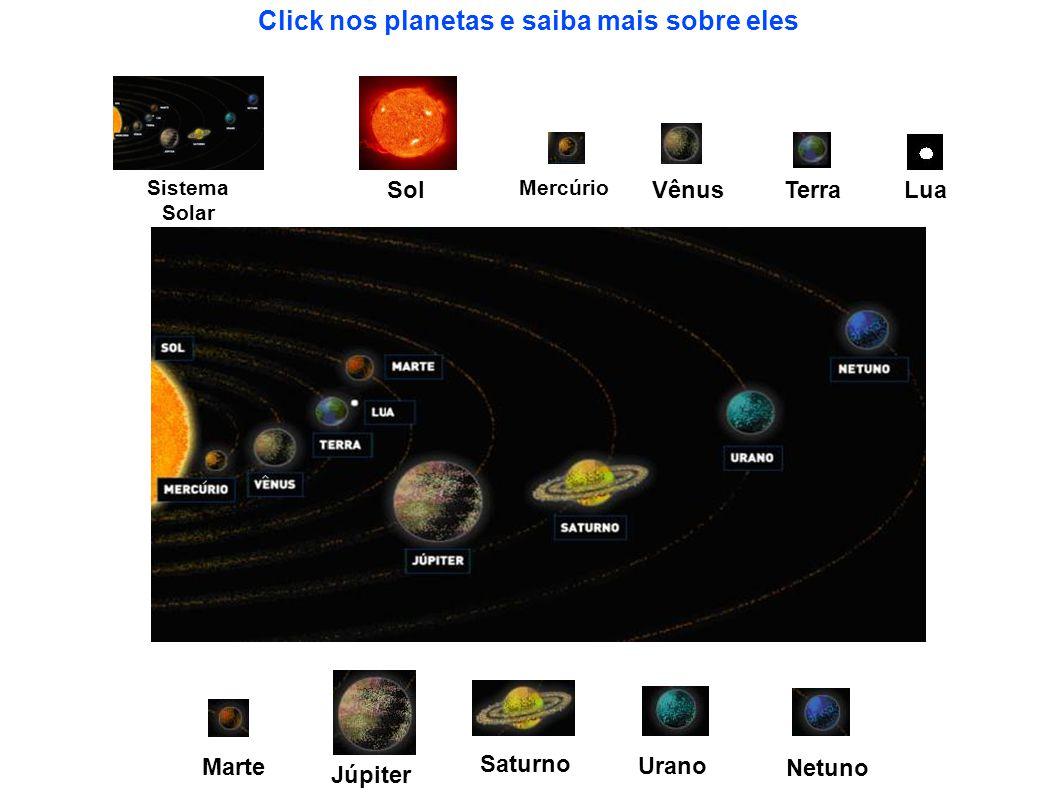 Click nos planetas e saiba mais sobre eles