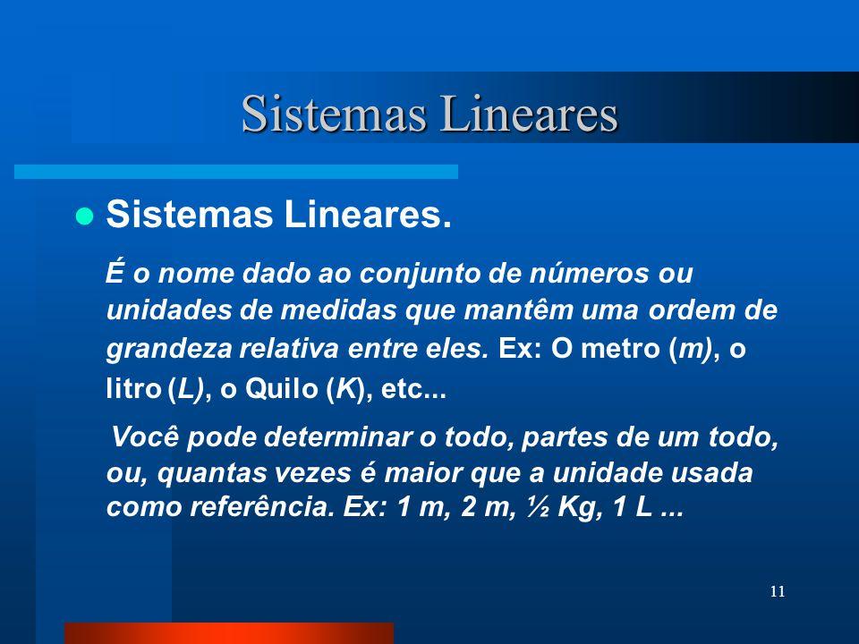 Sistemas Lineares Sistemas Lineares.