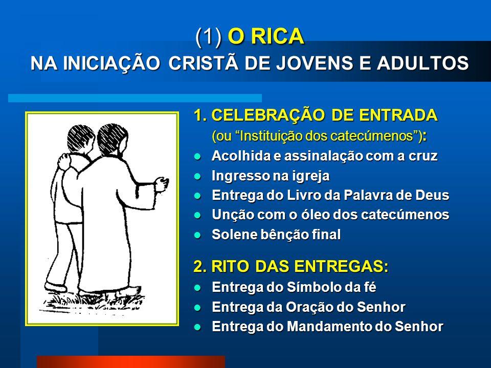 (1) O RICA NA INICIAÇÃO CRISTÃ DE JOVENS E ADULTOS