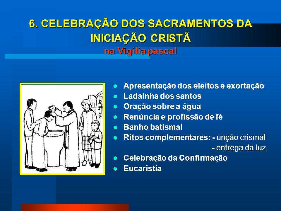 6. CELEBRAÇÃO DOS SACRAMENTOS DA INICIAÇÃO CRISTÃ na Vigília pascal