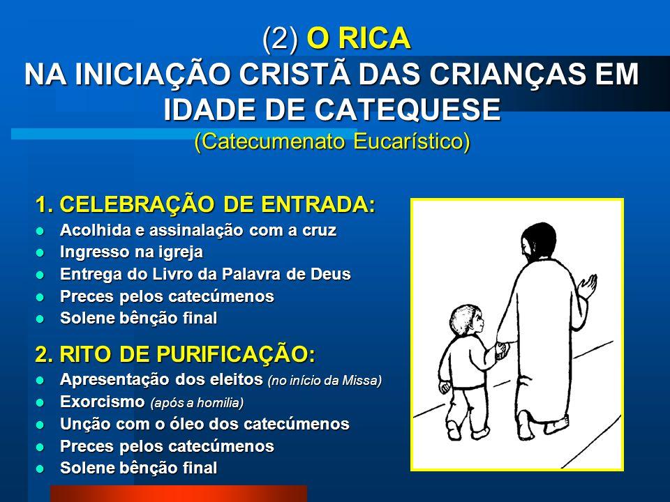 (2) O RICA NA INICIAÇÃO CRISTÃ DAS CRIANÇAS EM IDADE DE CATEQUESE (Catecumenato Eucarístico)