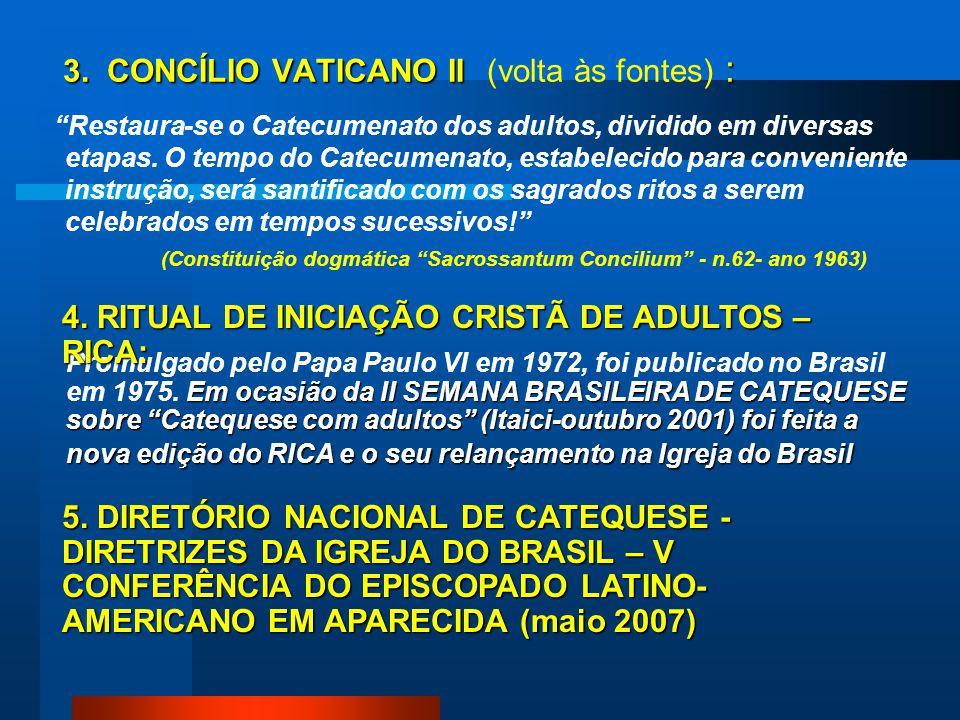 3. CONCÍLIO VATICANO II (volta às fontes) :