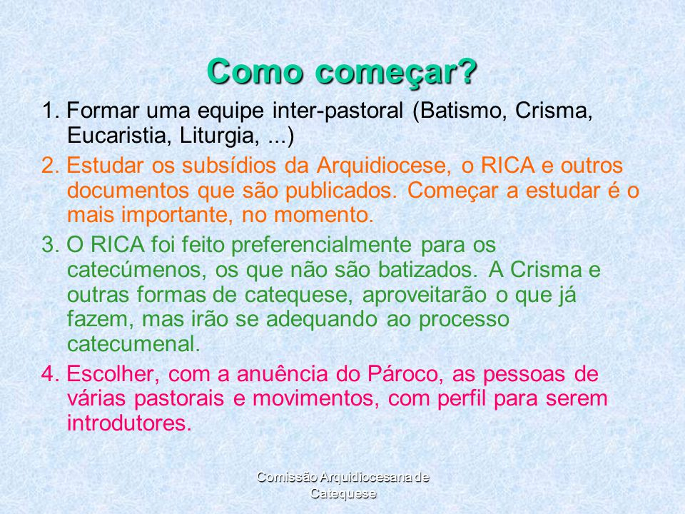 Comissão Arquidiocesana de Catequese