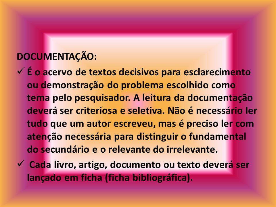 DOCUMENTAÇÃO: