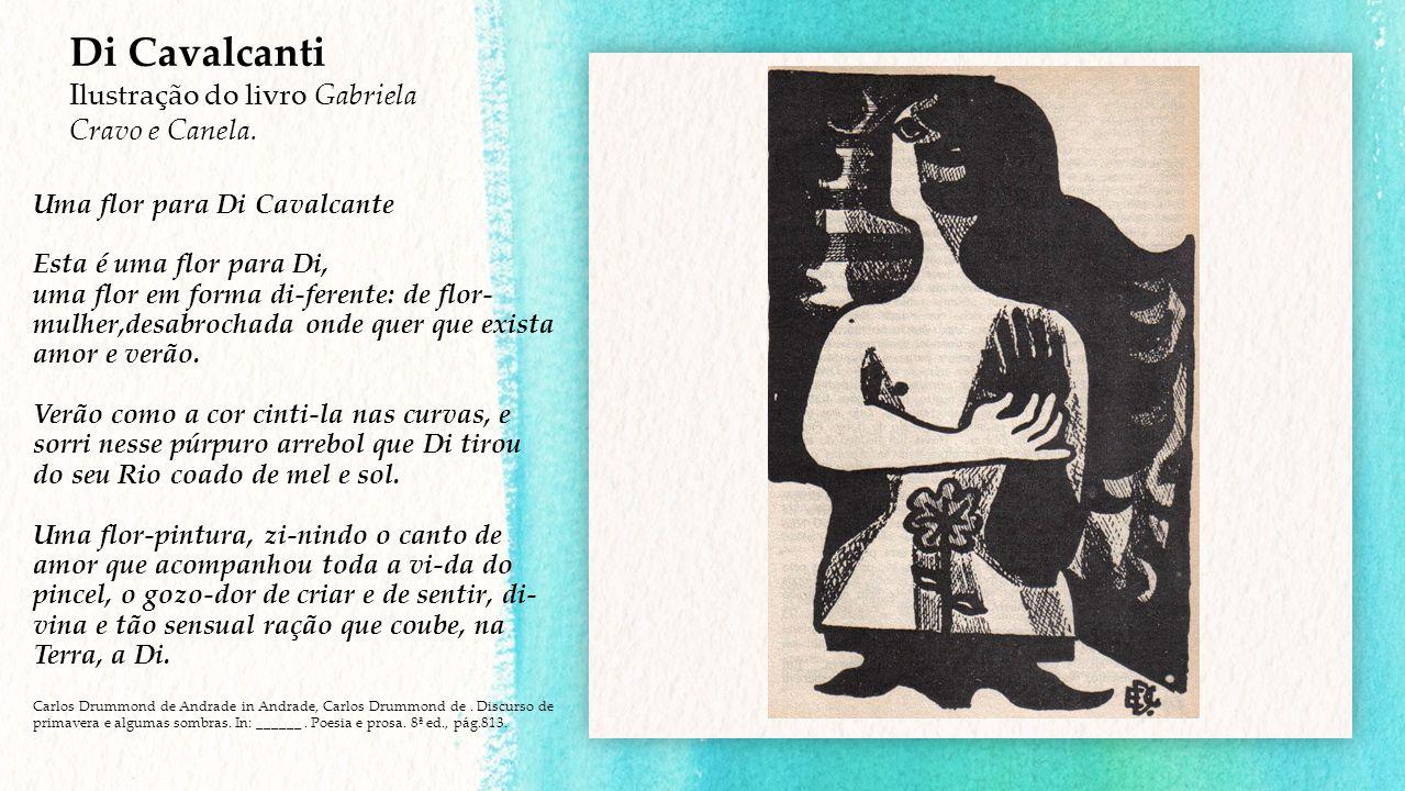 Di Cavalcanti Ilustração do livro Gabriela Cravo e Canela.