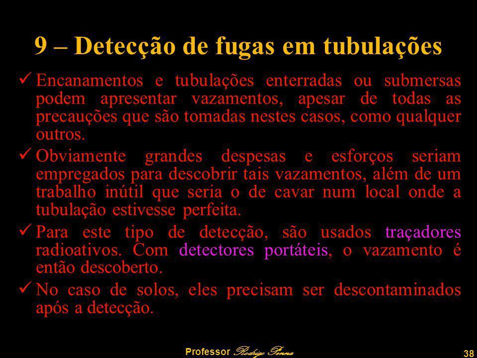 9 – Detecção de fugas em tubulações
