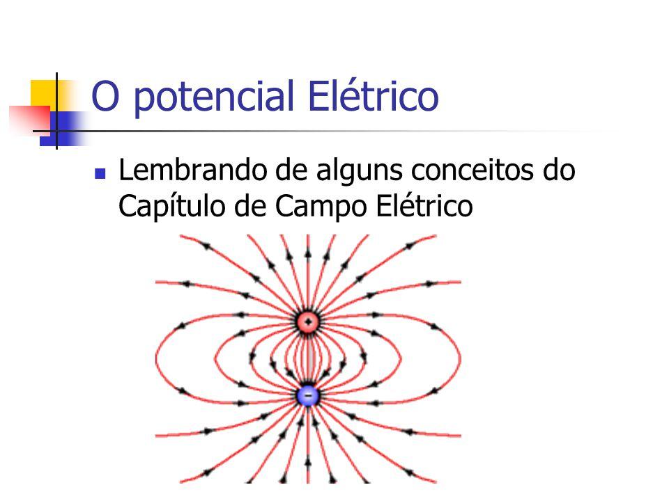O potencial Elétrico Lembrando de alguns conceitos do Capítulo de Campo Elétrico