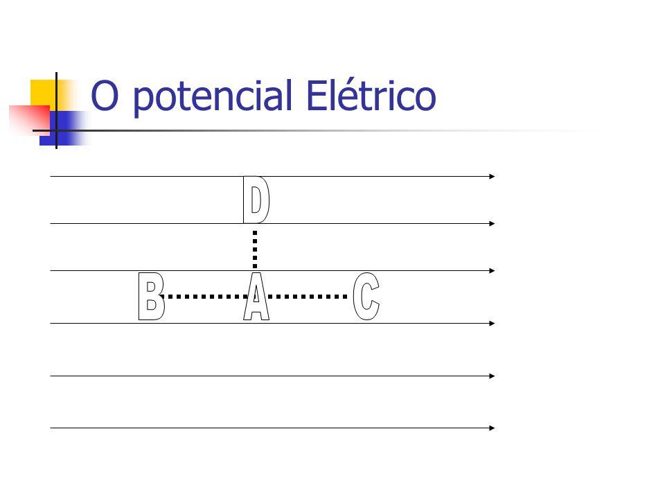 O potencial Elétrico D B A C