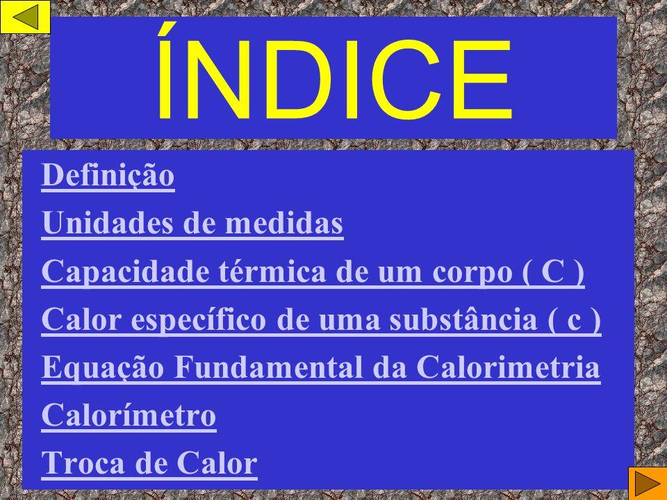 ÍNDICE Definição Unidades de medidas