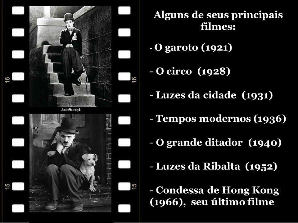 Alguns de seus principais filmes: