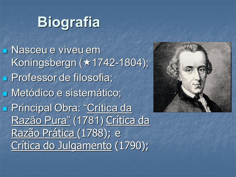 Biografia Nasceu e viveu em Koningsbergn (1742-1804);