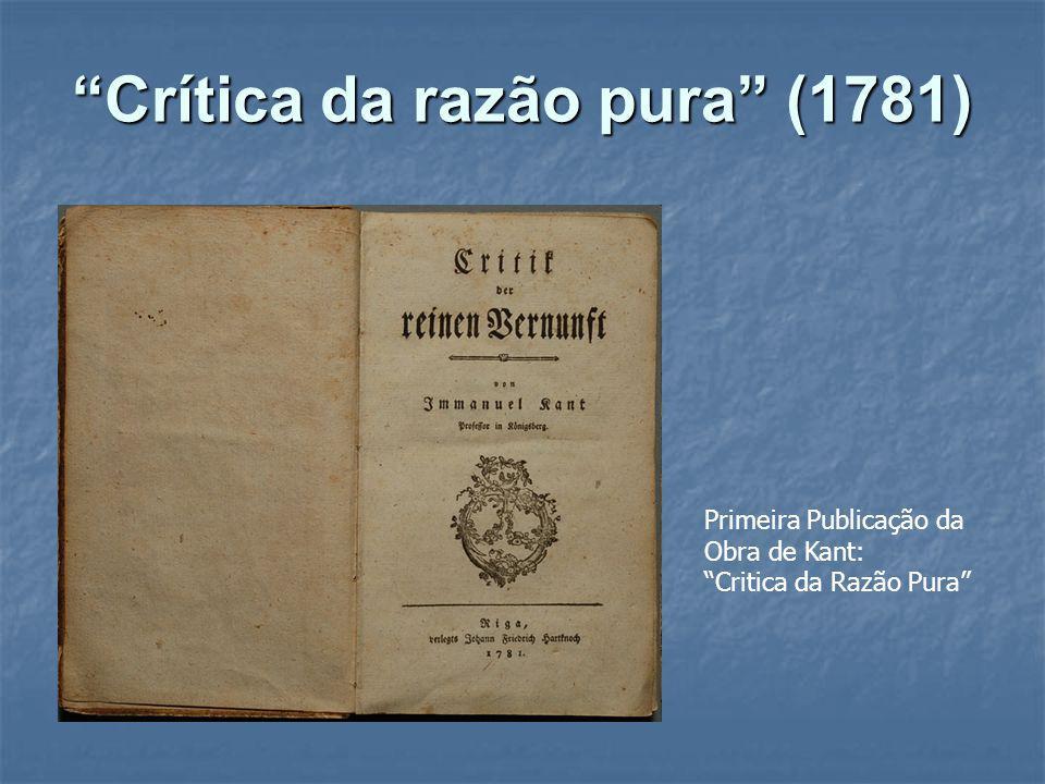 Crítica da razão pura (1781)