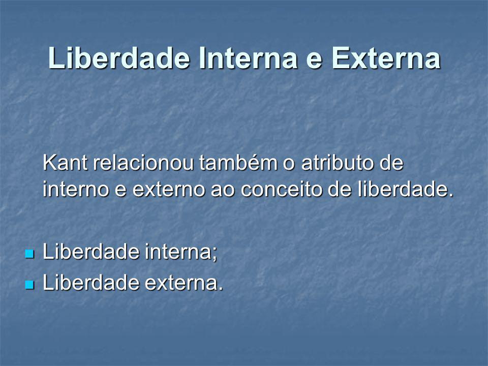 Liberdade Interna e Externa