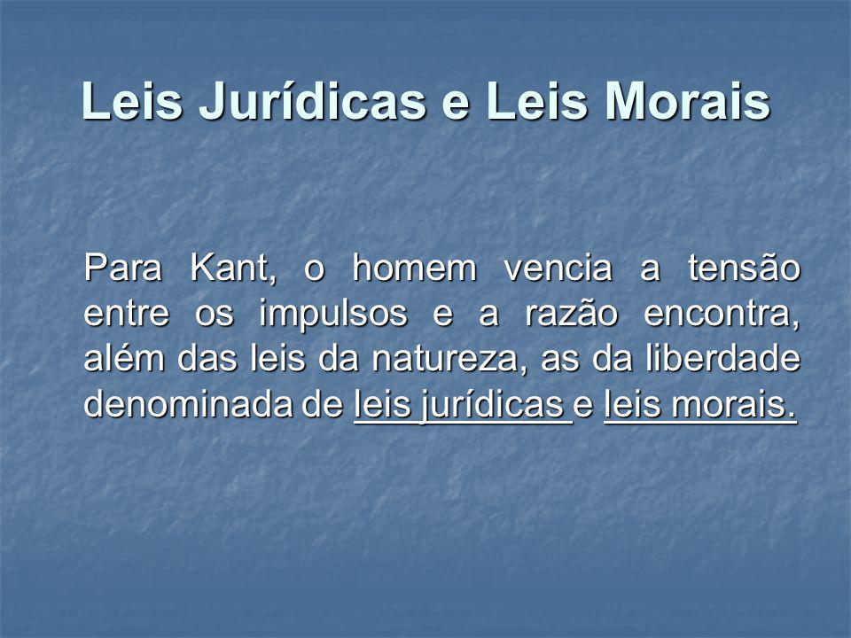 Leis Jurídicas e Leis Morais