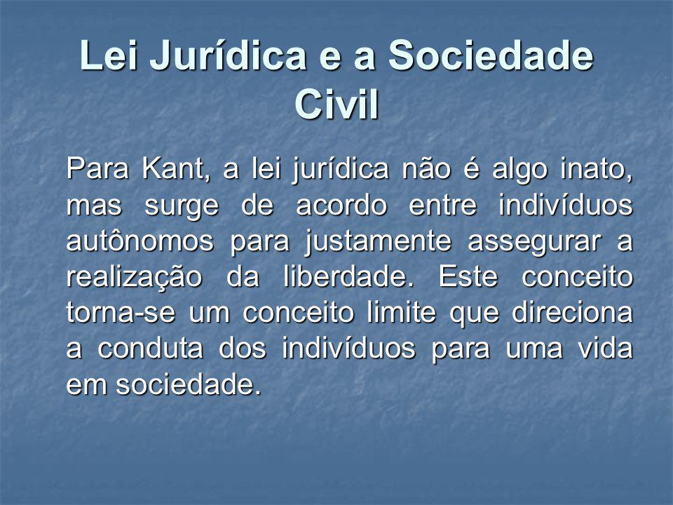 Lei Jurídica e a Sociedade Civil
